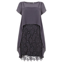 Buy Mint Velvet Cobweb Lace Dress, Grey Online at johnlewis.com