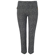 Buy Phase Eight Mila Print Cropped Trousers, Black/Ivory Online at johnlewis.com
