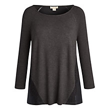 Buy Celuu Freya Lace Trim Top, Black Online at johnlewis.com