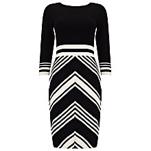 Buy Phase Eight Magdalena Chevron Knit Dress Online at johnlewis.com
