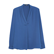 Buy Mango Flowy Blouse, Dark Blue Online at johnlewis.com