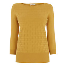 Buy Oasis The Textured Knit, Ochre Online at johnlewis.com