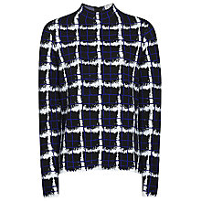 Buy Reiss Zheyna Check Print Jumper, Abyssal Blue Online at johnlewis.com