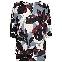 Buy Phase Eight Gillia Floral Top, Aubergine Online at johnlewis.com
