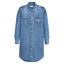 Buy Mango Denim Shirt Dress, Open Blue Online at johnlewis.com