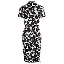 Buy Oasis Silhouette Print Dress, Black/White Online at johnlewis.com