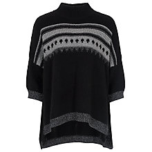 Buy French Connection Twinkle Fairisle Knitted Jumper, Black Multi Online at johnlewis.com