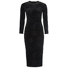 Buy French Connection Downtown Velvet Dress, Black Online at johnlewis.com