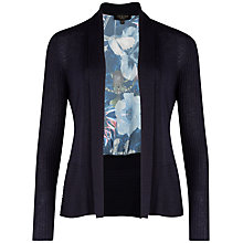 Buy Ted Baker Botah Poppy Print Cardigan, Navy Online at johnlewis.com