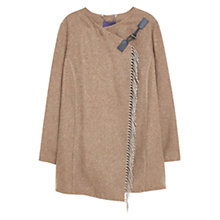 Buy Violeta by Mango Wool Blend Coat, Dark Brown Online at johnlewis.com