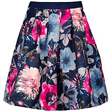 Buy Ted Baker Forwn Poppy Print Skirt, Navy Online at johnlewis.com