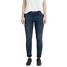 Buy Violeta by Mango Slim Fit Petrol Jeans, Open Blue Online at johnlewis.com