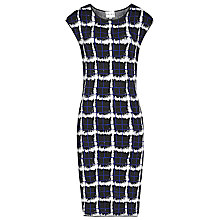 Buy Reiss Vanessa Check Print Dress, Abyssal Blue Online at johnlewis.com
