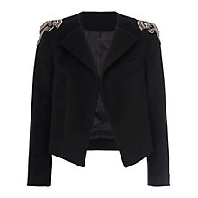 Buy French Connection Eva Sparkle Long Sleeve Jacket, Black Online at johnlewis.com