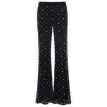 Buy French Connection Pearl Cage Embellished Flares, Black Online at johnlewis.com