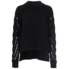 Buy French Connection Kora High Neck Jumper, Black Online at johnlewis.com