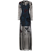 Buy French Connection Wednesday Stitch Maxi Dress, Black Online at johnlewis.com