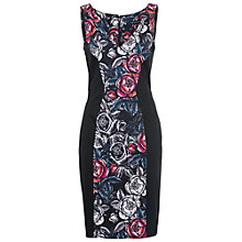 Buy French Connection Midnight Rose Paneled Dress, Black Online at johnlewis.com