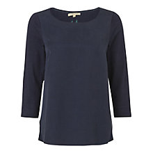 Buy White Stuff Foliage Jersey Top, Blue Online at johnlewis.com