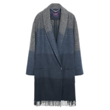 Buy Violeta by Mango Fringe Wool-Blend Coat, Dark Heather Grey Online at johnlewis.com