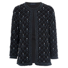 Buy French Connection Pearl Cage Collarless Jacket, Black Online at johnlewis.com