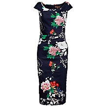Buy Jolie Moi Oriental Floral  Dress, Navy/Multi Online at johnlewis.com