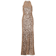 Buy French Connection Lunar Sparkle Maxi Dress, Gold Online at johnlewis.com