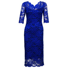Buy Jolie Moi Scalloped Lace Dress, Royal Blue Online at johnlewis.com