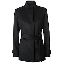 Buy Jaeger Wool Funnel Neck Coat, Black Online at johnlewis.com