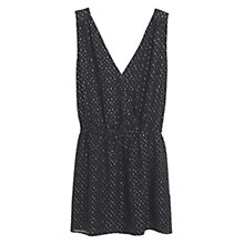 Buy Mango Flowy Print Dress, Black Online at johnlewis.com