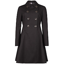 Buy Ted Baker Maquila Flared Trench Coat, Black Online at johnlewis.com