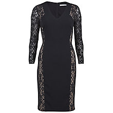 Buy Gina Bacconi Crepe Dress With Fancy Panels, Black Online at johnlewis.com