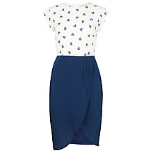 Buy Sugarhill Boutique Heart Tulip Dress, Cream/Navy Online at johnlewis.com