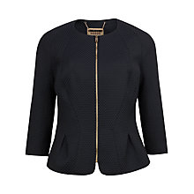 Buy Ted Baker Honeycomb Jacquard Jacket, Black Online at johnlewis.com