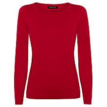 Buy Jaeger Gostwyck Wool Jumper, Haute Red Online at johnlewis.com