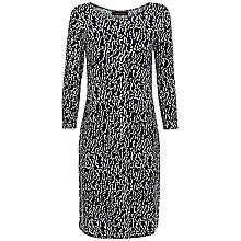 Buy Jaeger Jersey Ripple Dress, French Navy Online at johnlewis.com