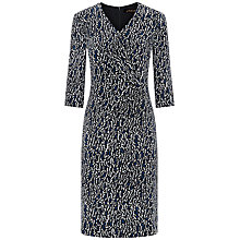 Buy Jaeger Ripple Print Silk Dress, French Navy Online at johnlewis.com