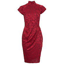 Buy French Connection Shatter Jacquard Cap Sleeve Dress, Runway Red Online at johnlewis.com