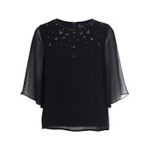 Buy French Connection Broadway Lights Top, Utility Blue Online at johnlewis.com