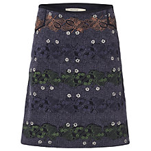 Buy White Stuff Way Of Life Skirt, Midnight Mauve/Multi Online at johnlewis.com