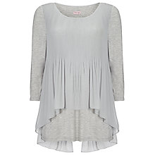 Buy Phase Eight Betsy Pleated Top, Silver Online at johnlewis.com