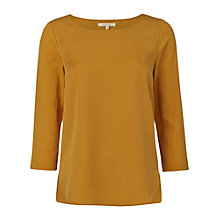 Buy White Stuff Foliage Jersey Top, Yellow Online at johnlewis.com
