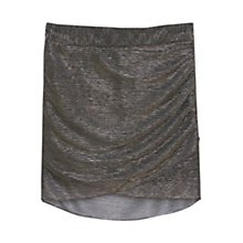 Buy Mango Metallic Detail Skirt, Black Online at johnlewis.com