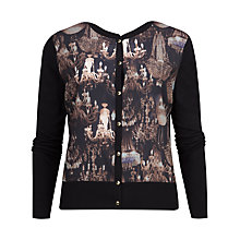 Buy Ted Baker Ssandy Chandelier Print Cardigan, Navy Online at johnlewis.com