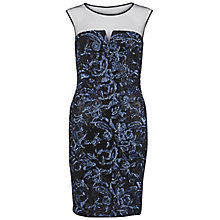 Buy Gina Bacconi Round Neck Sequin Mesh Dress, Blue Online at johnlewis.com