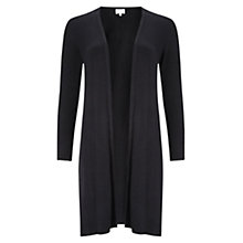 Buy East Lace Jersey Cardigan, Black Online at johnlewis.com