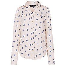 Buy Sugarhill Boutique Lexi Heart Print Shirt, Cream Online at johnlewis.com
