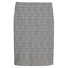Buy Mango Houndstooth Pencil Skirt, Black Online at johnlewis.com