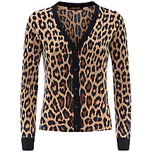 Buy Jaeger Leopard Print Cardigan, Camel/Black Online at johnlewis.com