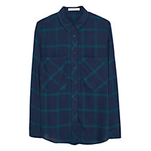 Buy Mango Chest Pocket Check Shirt, Navy Online at johnlewis.com